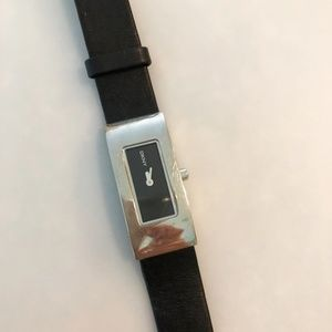 Black Leather DKNY Watch